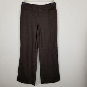 Loft Ann Taylor Brown Julie Fit Wool Trousers